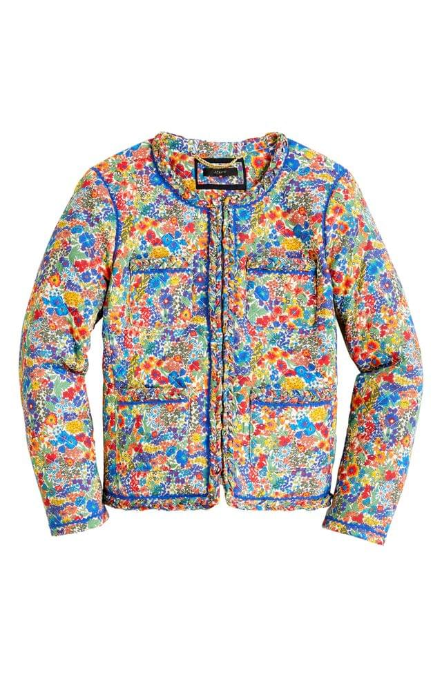 WOMEN J.Crew Liberty Margaret Annie Quilted Lady Jacket