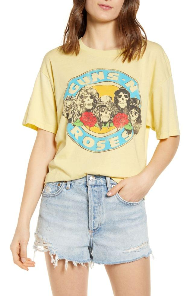 WOMEN Daydreamer Guns N' Roses Welcome to the Jungle Graphic Tee