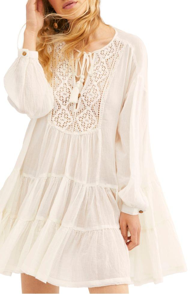 WOMEN Endless Summer by Free People Something Special Long Sleeve Minidress