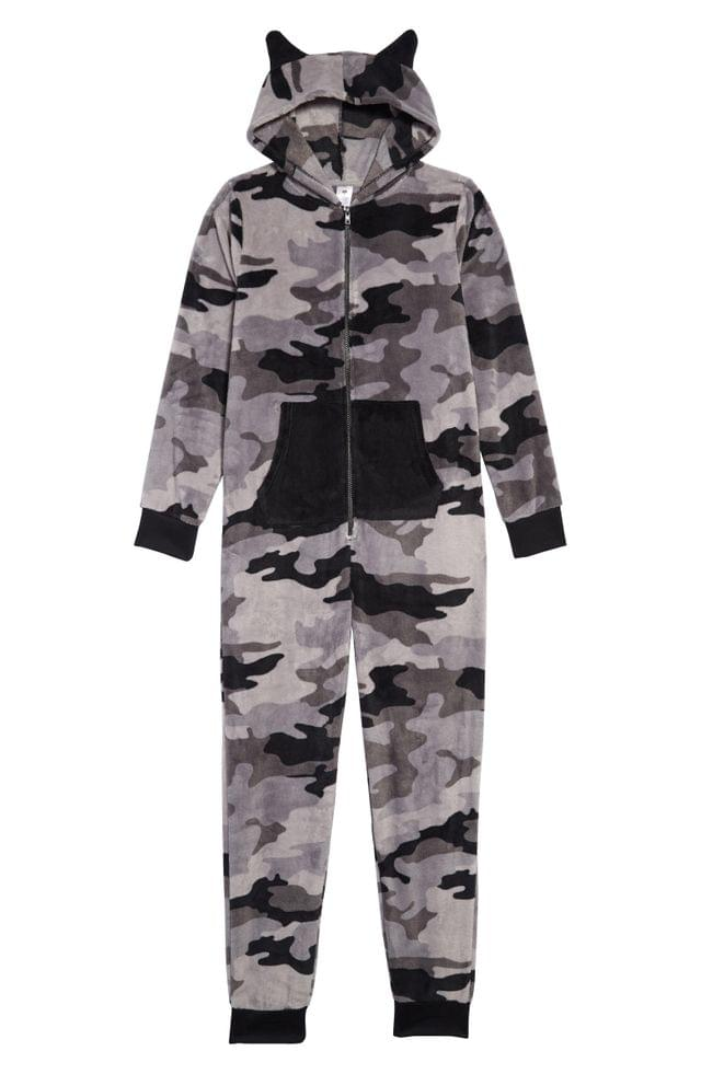 KIDS Tucker + Tate Camo Dog One-Piece Pajamas (Little Boys & Big Boys)