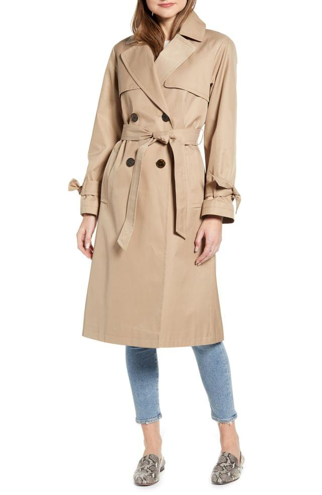 WOMEN Sam Edelman Double Breasted Trench Coat