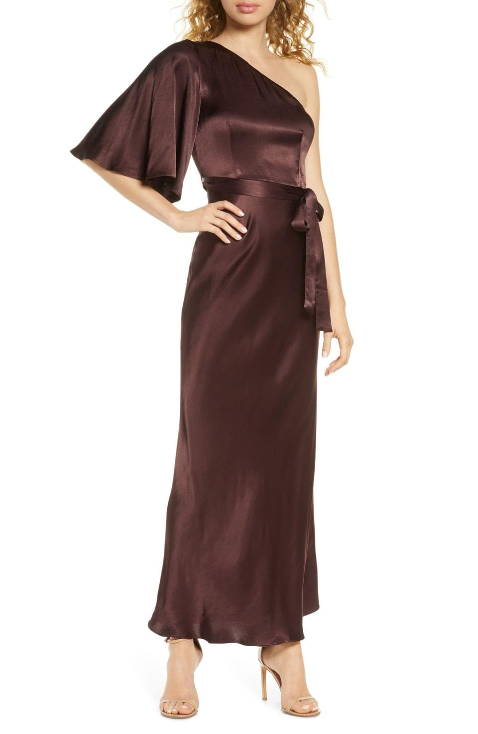 Women's Shona Joy One-Shoulder Satin Gown