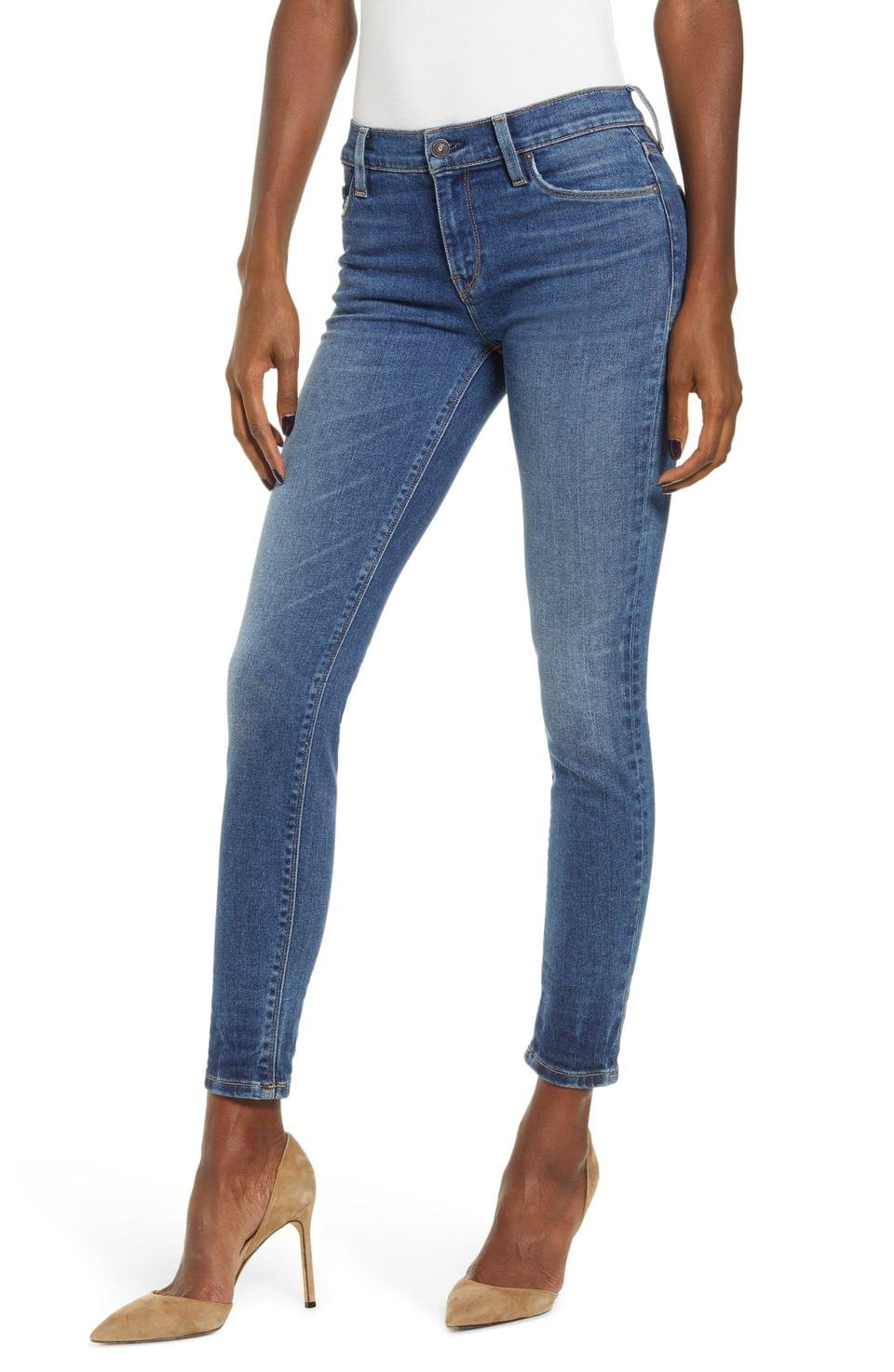 Women's Hudson Jeans Nico Ripped Ankle Skinny Jeans (Friction)
