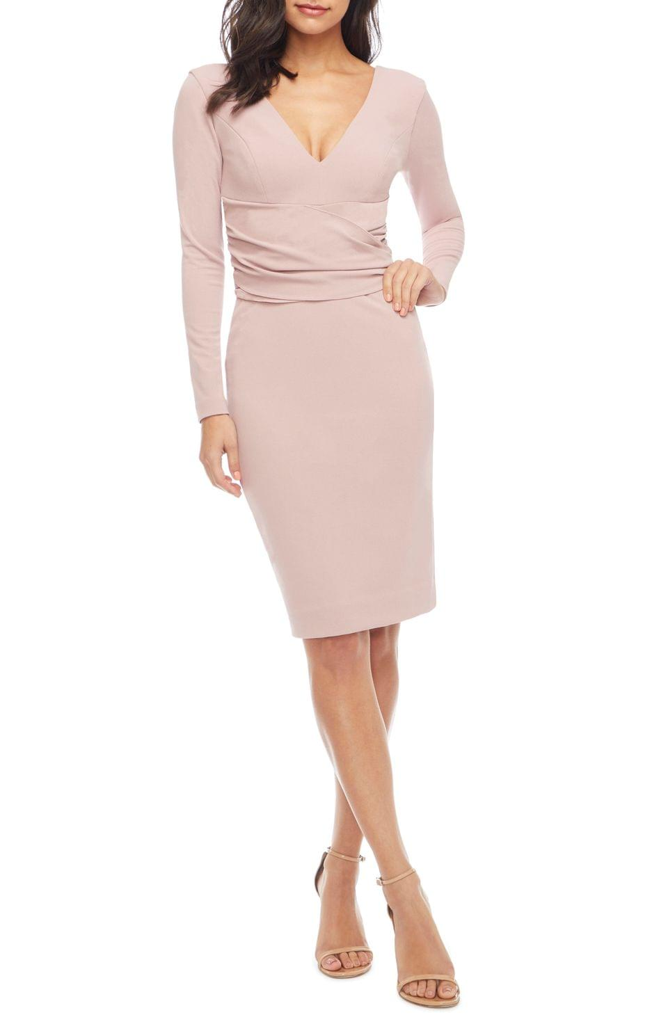 Women's Dress the Population Drew Long Sleeve Body-Con Dress