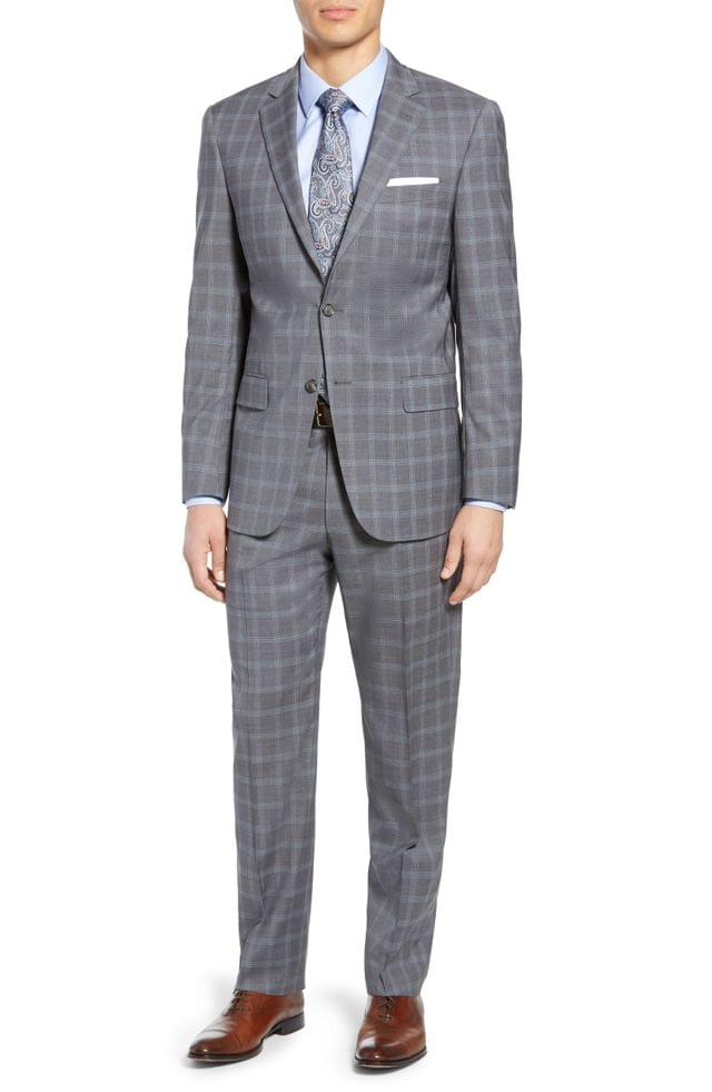 MEN Hart Schaffner Marx New York Classic Fit Plaid Wool Suit