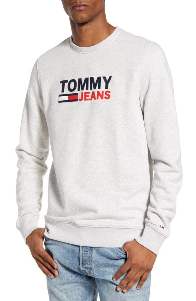 MEN TOMMY JEANS TJM Corp Logo Graphic Crewneck Sweatshirt