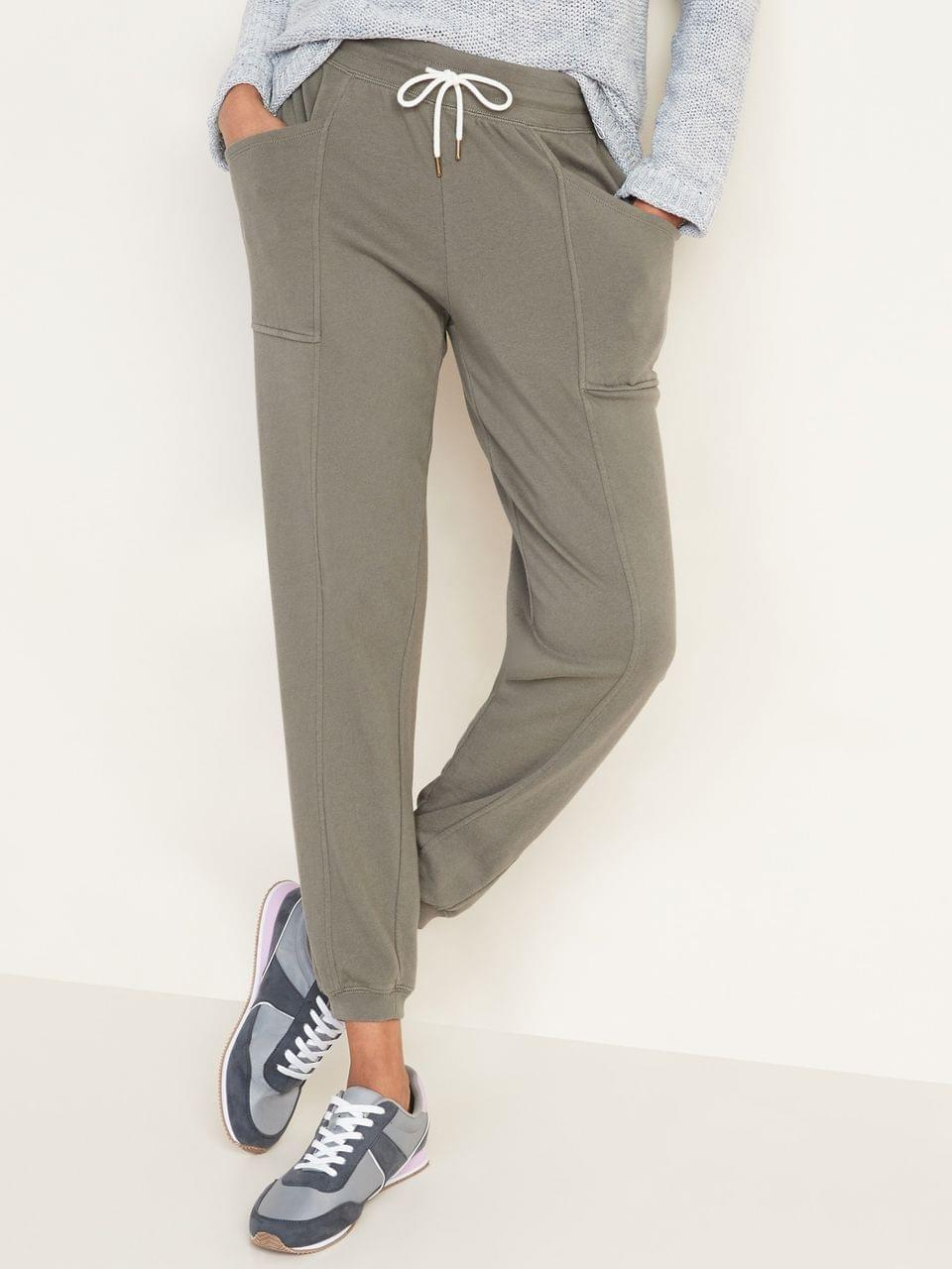 Women's Mid-Rise French-Terry Utility Street Joggers for Women