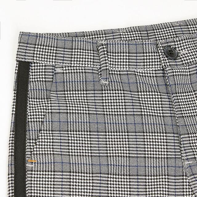 KIDS Boys grey check tape side trousers