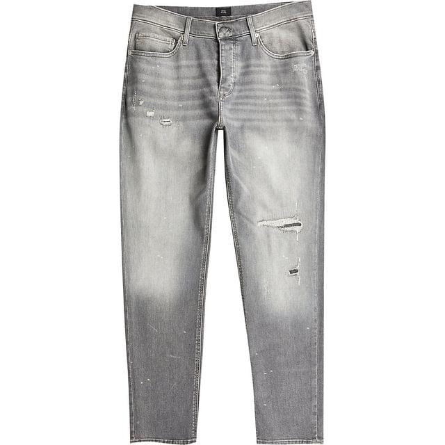 MEN Grey ripped Dylan slim fit jeans
