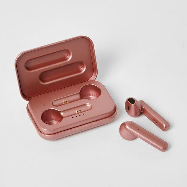 WOMEN Rose gold colour wireless new edition earbuds