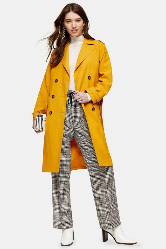 WOMEN Mustard Trench Coat