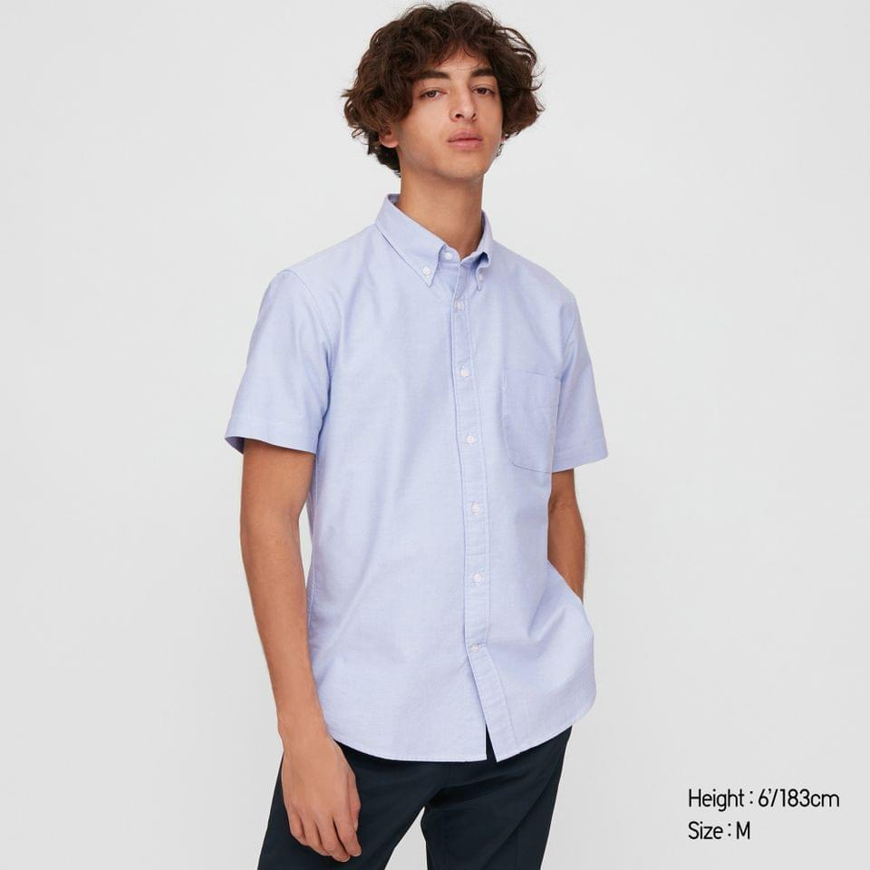 Men's MEN OXFORD SLIM-FIT SHORT-SLEEVE SHIRT