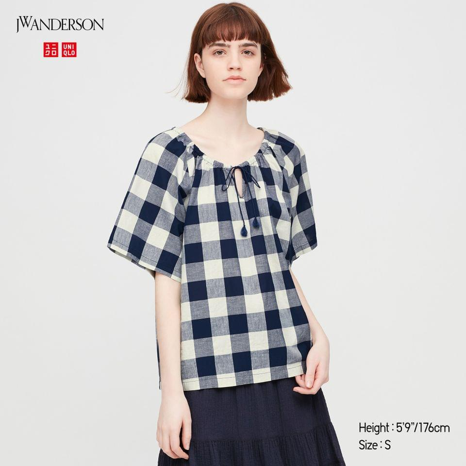Women's WOMEN GATHERED SHORT-SLEEVE BLOUSE (JW ANDERSON)