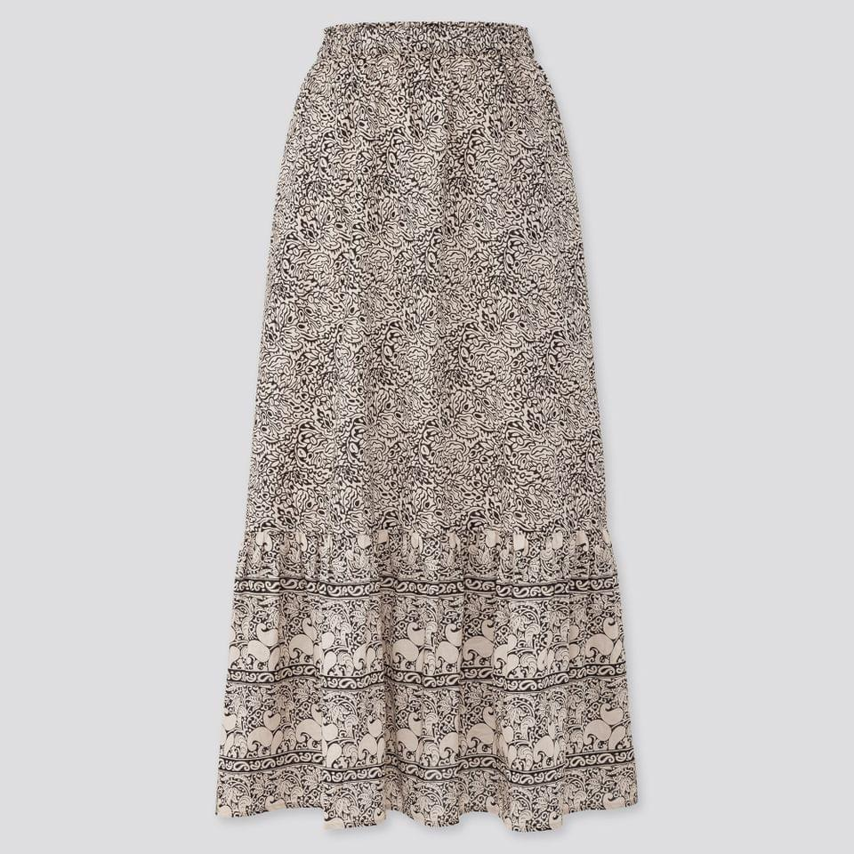 Women's WOMEN ANNA SUI TIERED LONG SKIRT