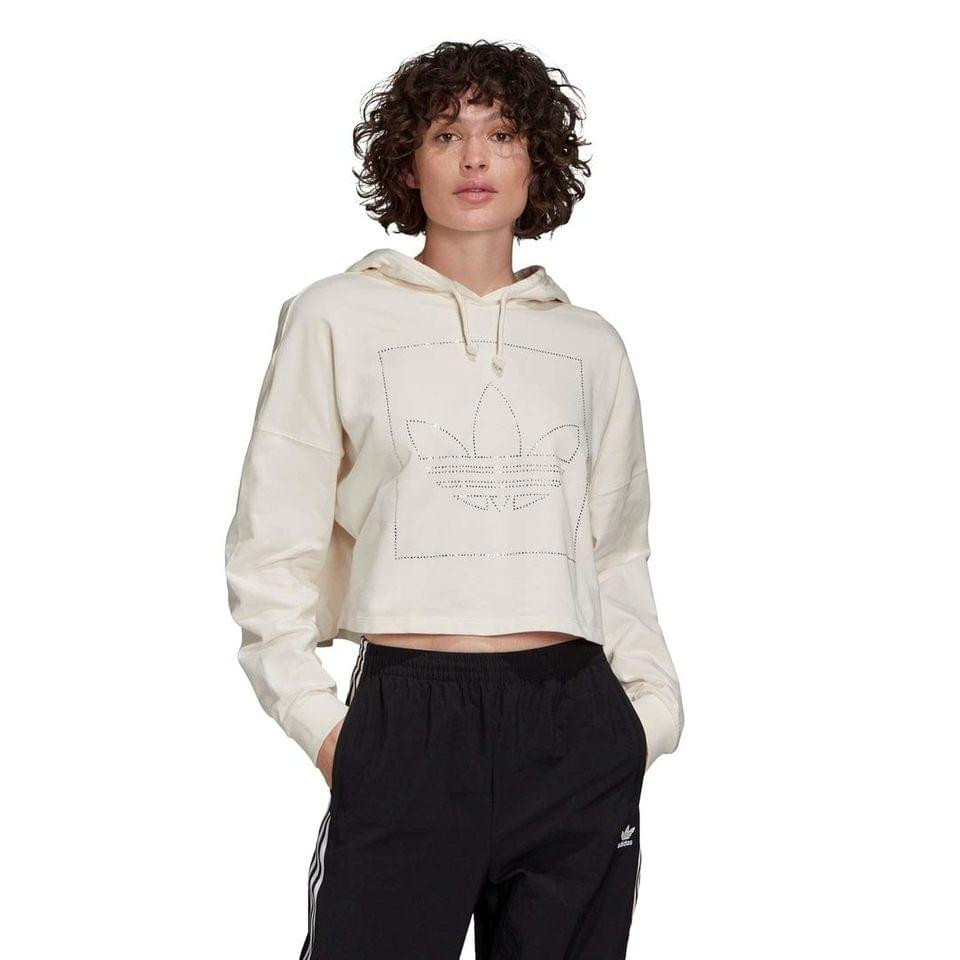 Women's FAEKT Crop Hoodie. By adidas Originals. 64.95. Style Chalk White.