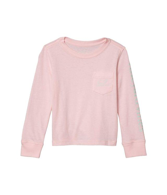 Girl's Long Sleeve Glow in the Dark Whale Pocket T-Shirt (Toddler/Little Kids/Big Kids). By Vineyard Vines Kids. 32.50. Style Flamingo.