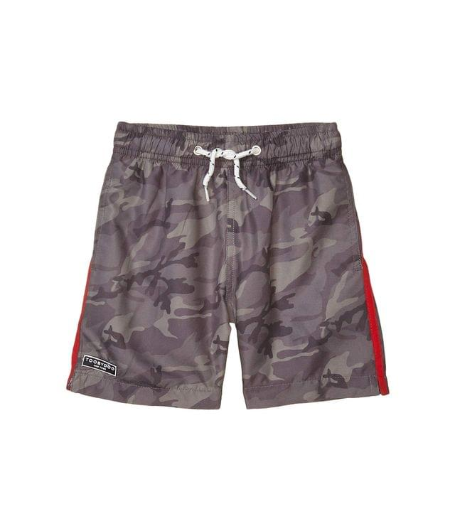 KIDS Olive Camo Classic Swim Shorts (Toddler/Little Kids/Big Kids). By Toobydoo. 40.00. Style Olive.