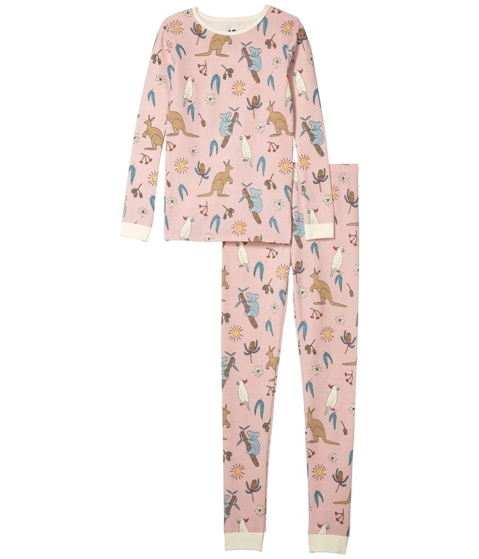Girl's Jessie Long Sleeve Waffle Pajama Set (Little Kids to Toddler/Little Kids/Big Kids). By COTTON ON. 24.99. Style Peach Whip/Australiana.