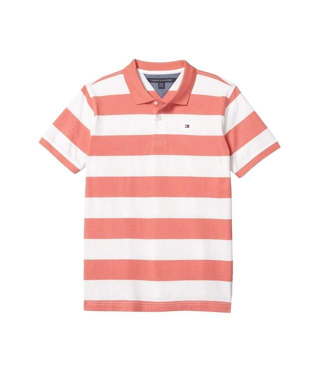 KIDS Rugby Stripe Polo (Big Kids). By Tommy Hilfiger Kids. 26.50. Style Spiced Coral.