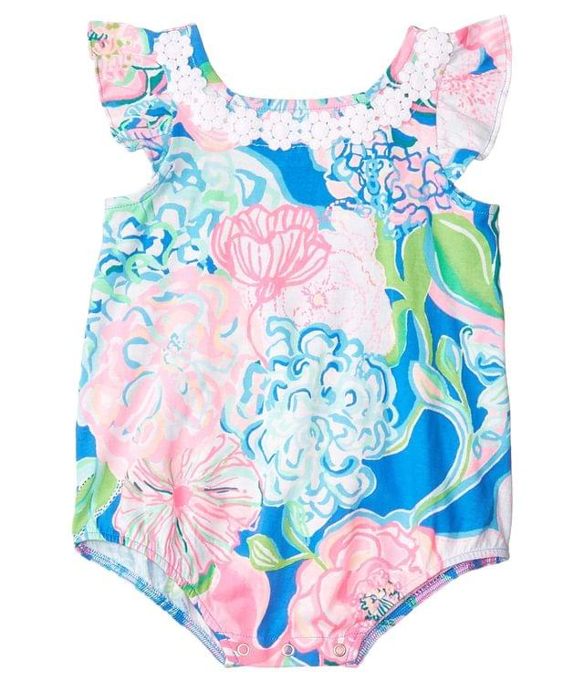 Girl's Emilia Bodysuit (Infant). By Lilly Pulitzer Kids. 42.00. Style Multi Peony For Your Thoughts.