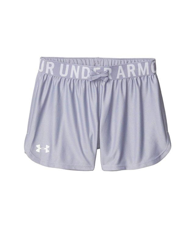 KIDSS Play Up Solid Shorts (Big Kids). By Under Armour Kids. 20.00. Style Purple Dusk/Metallic Silver. Rated 5 out of 5 stars.