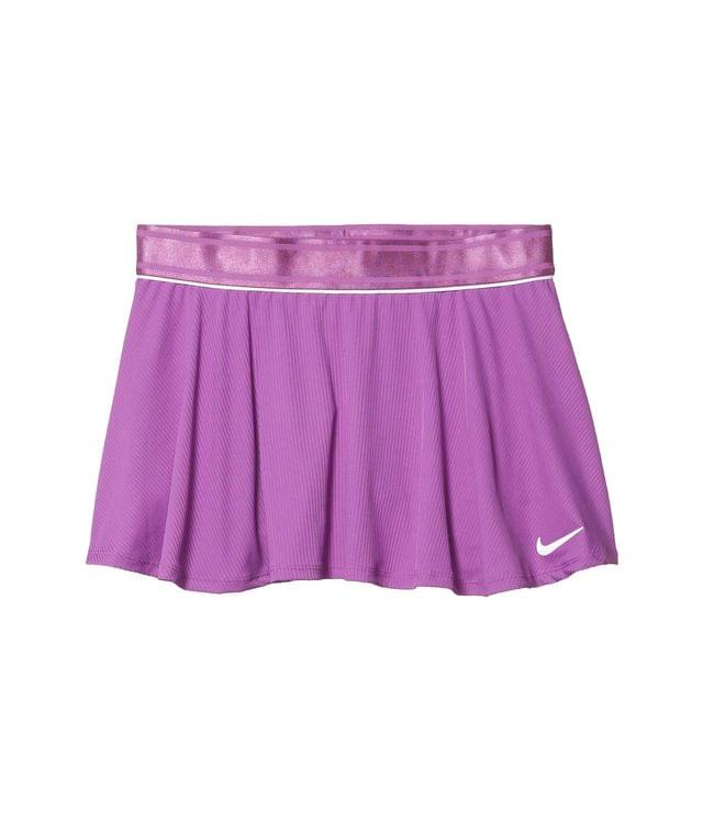 KIDS Court Dry Flouncy Skirt (Little Kids/Big Kids). By Nike Kids. 40.00. Style Purple Nebula/White/White. Rated 2 out of 5 stars.