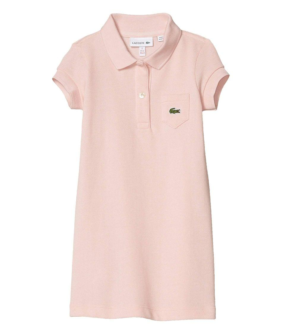 Girl's Classic Pique Dress with Pocket (Toddler/Little Kids/Big Kids). By Lacoste Kids. 70.00. Style Lychee Pink.