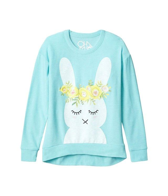 KIDS Funny Bunny Cozy Knit Hi Lo Pullover (Little Kids/Big Kids). By Chaser Kids. 44.00. Style Tiffany.