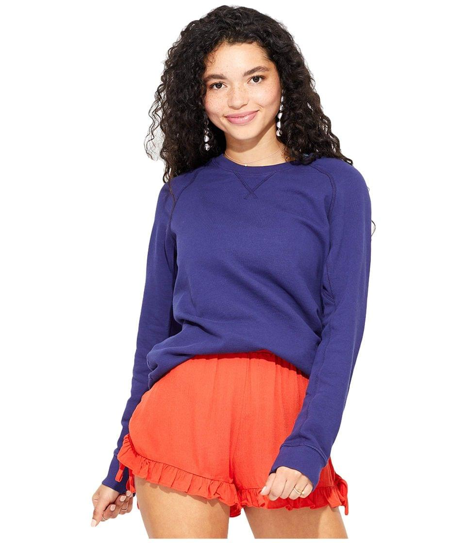 Women's Essential Sweatshirt. By PACT. 44.95. Style Midnight Navy.