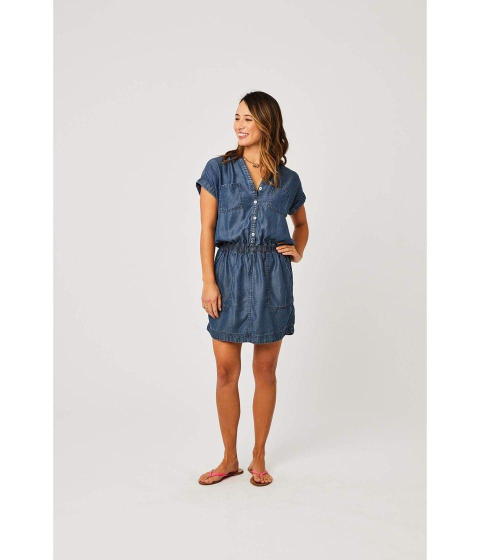 Women's Hadley Dress. By Carve Designs. 87.95. Style Dark Chambray.