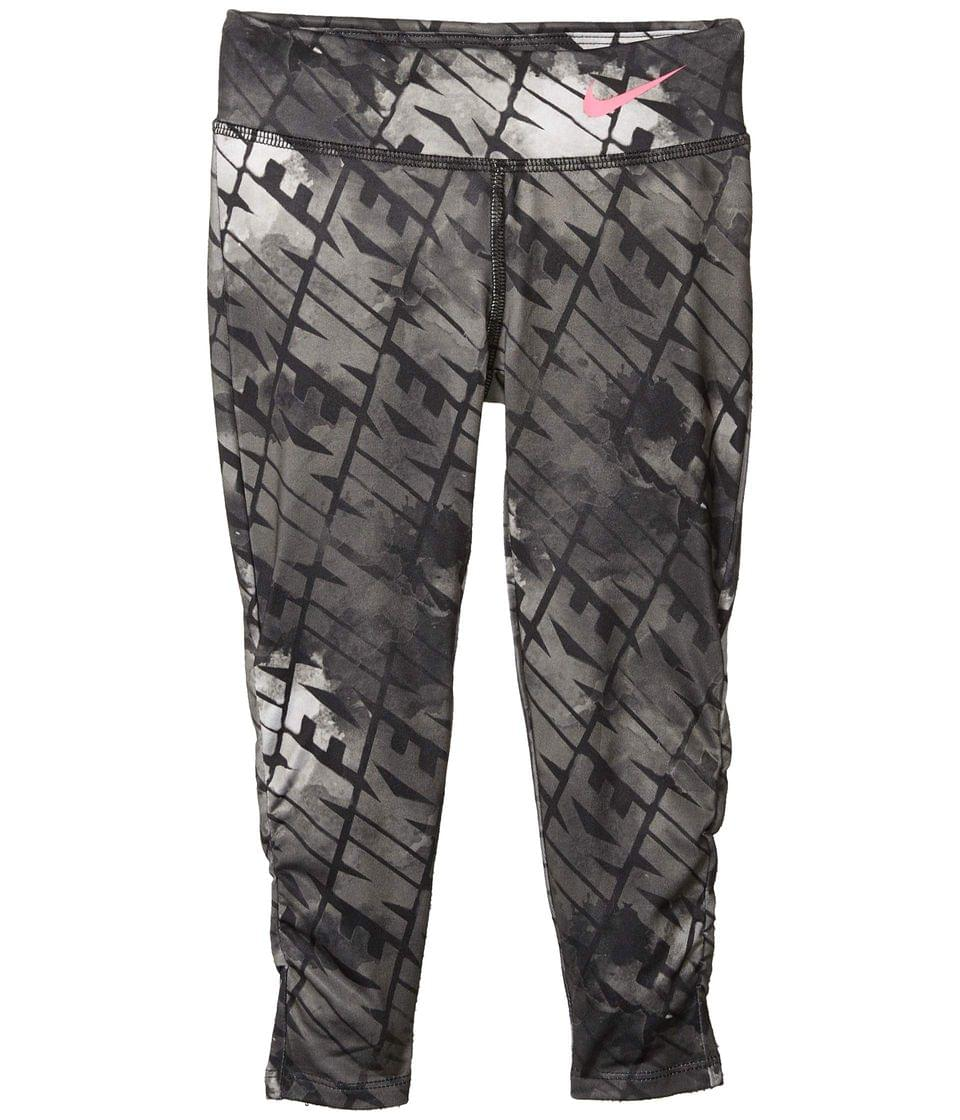 Girl's Dri-FIT Ruched Graphic Leggings (Little Kids). By Nike Kids. 30.00. Style Black.