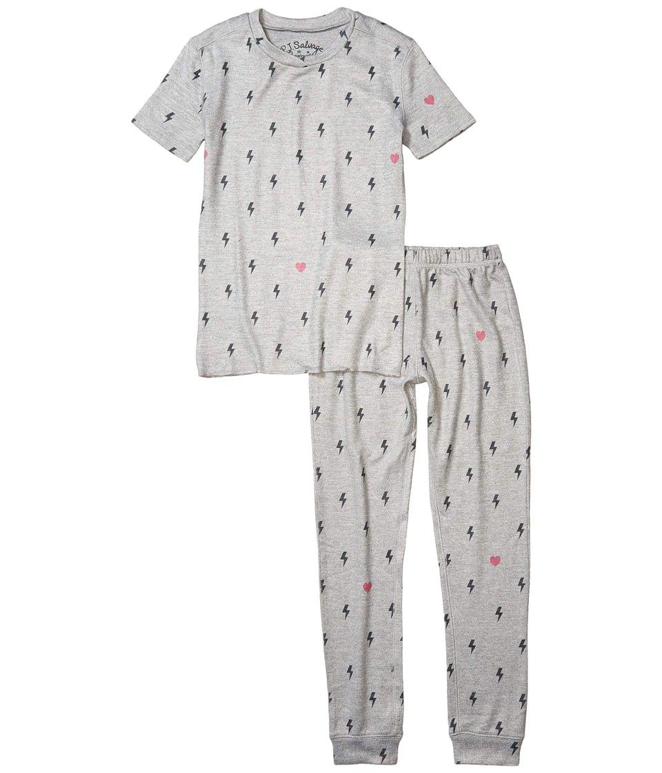 Girl's Lightning Bolt & Star Peachy Two-Piece Jammie Set (Toddler/Little Kids/Big Kids). By P.J. Salvage Kids. 49.00. Style Heather Gray.