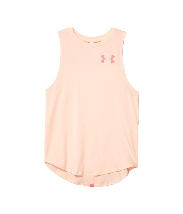 Girl's Armour HeatGear Tank Top (Big Kids). By Under Armour Kids. 25.00. Style Peach Frost/Eclectic Pink.