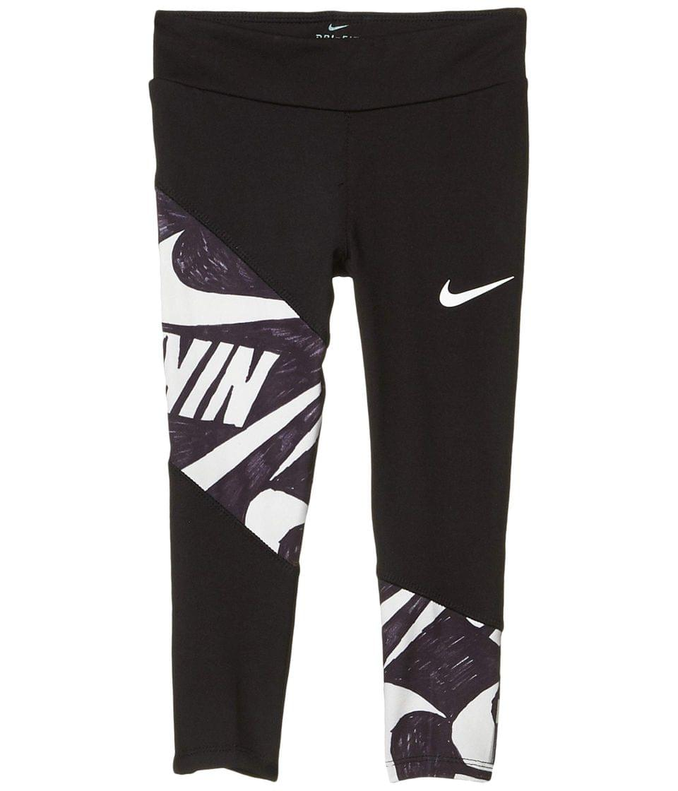 Girl's Dri-FIT Graphic Panel Leggings (Little Kids). By Nike Kids. 22.50. Style Black.
