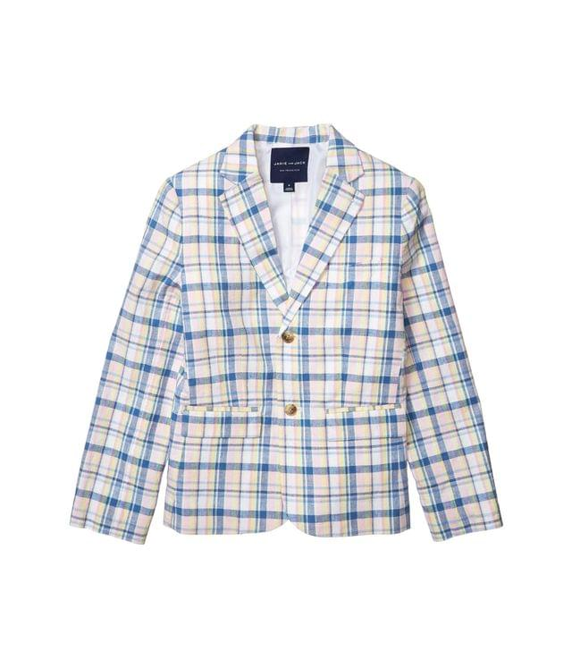 Boy's Plaid Linen Blazer (Toddler/Little Kids/Big Kids). By Janie and Jack. 99.00. Style Multi.