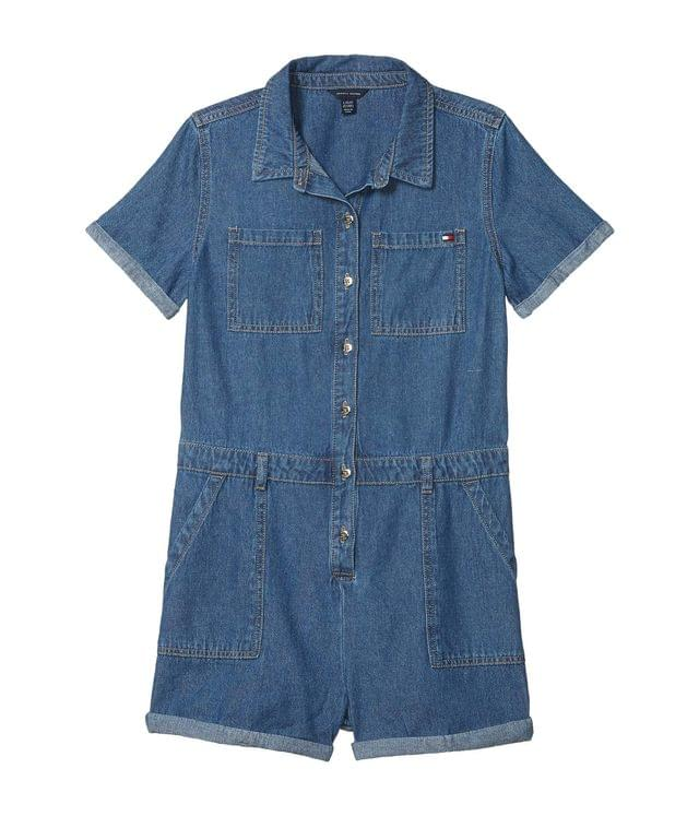 KIDS Denim Shortall (Big Kids). By Tommy Hilfiger Kids. 37.50. Style Canal Wash.