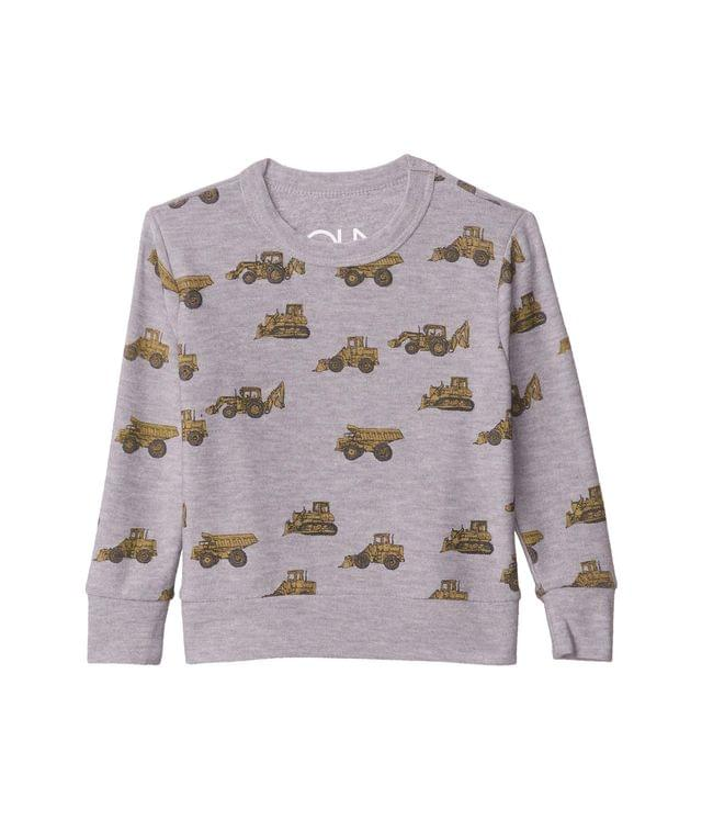 KIDS Tractor Toss Cozy Knit Crew Neck Pullover Sweater (Toddler/Little Kids). By Chaser Kids. 44.00. Style Heather Grey.