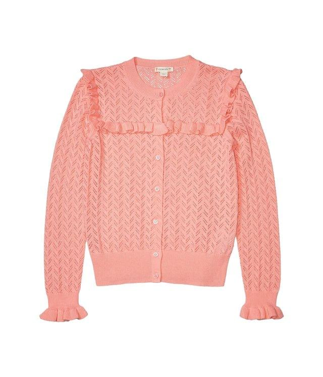 Girl's Luna Cardigan Pointelle (Toddler/Little Kids/Big Kids). By crewcuts by J.Crew. 65.00. Style Brilliant Peony.