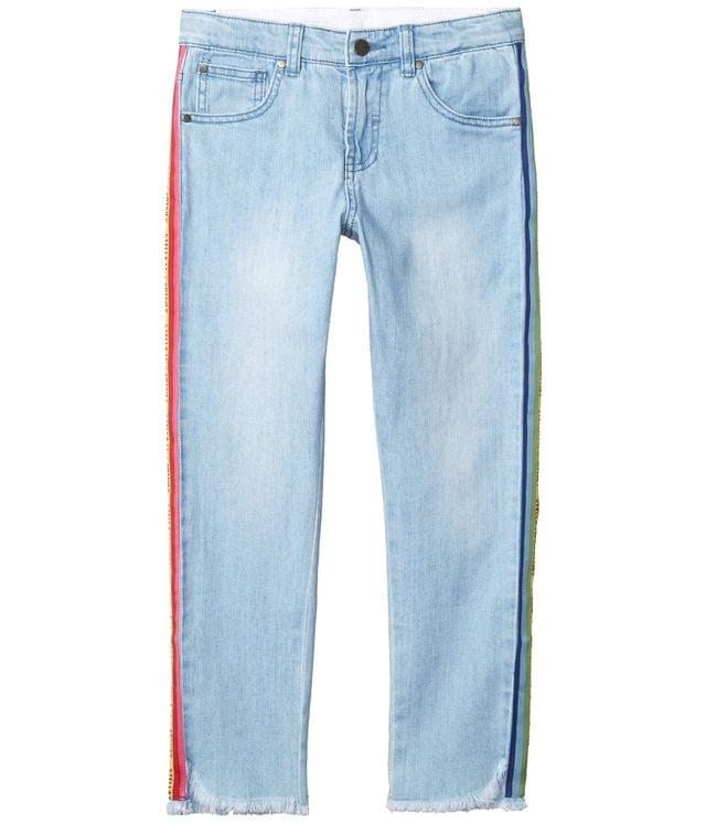 Girl's Denim with Rainbow Logo Tape Early (Toddler/Little Kids/Big Kids). By Stella McCartney Kids. 121.00. Style Blue.
