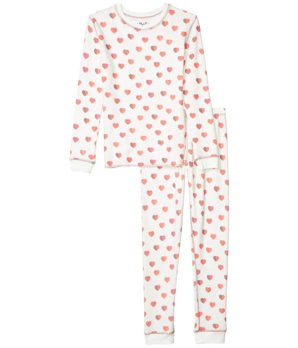 Girl's All Things Love Peachy Two-Piece Jammie Set (Toddler/Little Kids/Big Kids). By P.J. Salvage Kids. 51.00. Style Ivory.