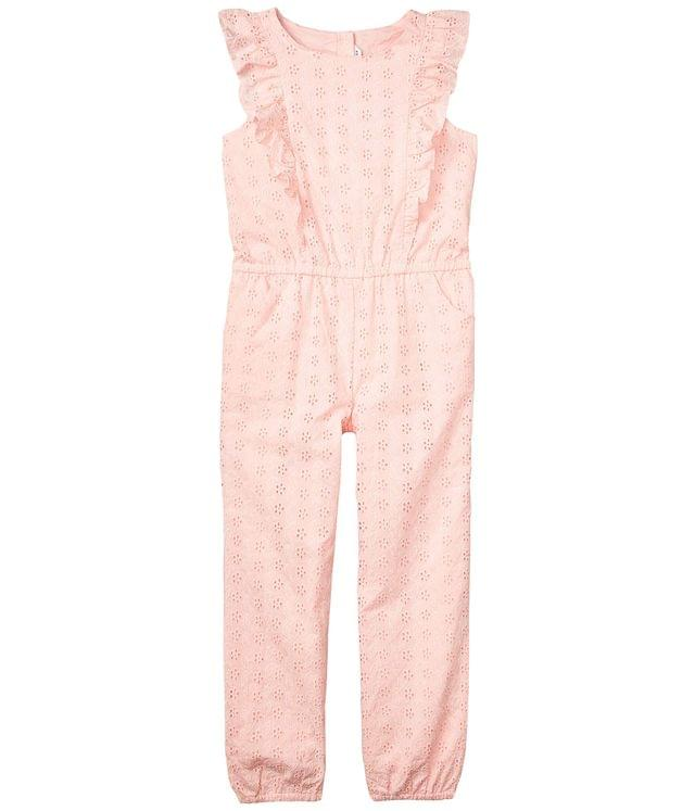 Girl's Eyelet Jumpsuit (Toddler/Little Kids/Big Kids). By Janie and Jack. 79.00. Style Pink.
