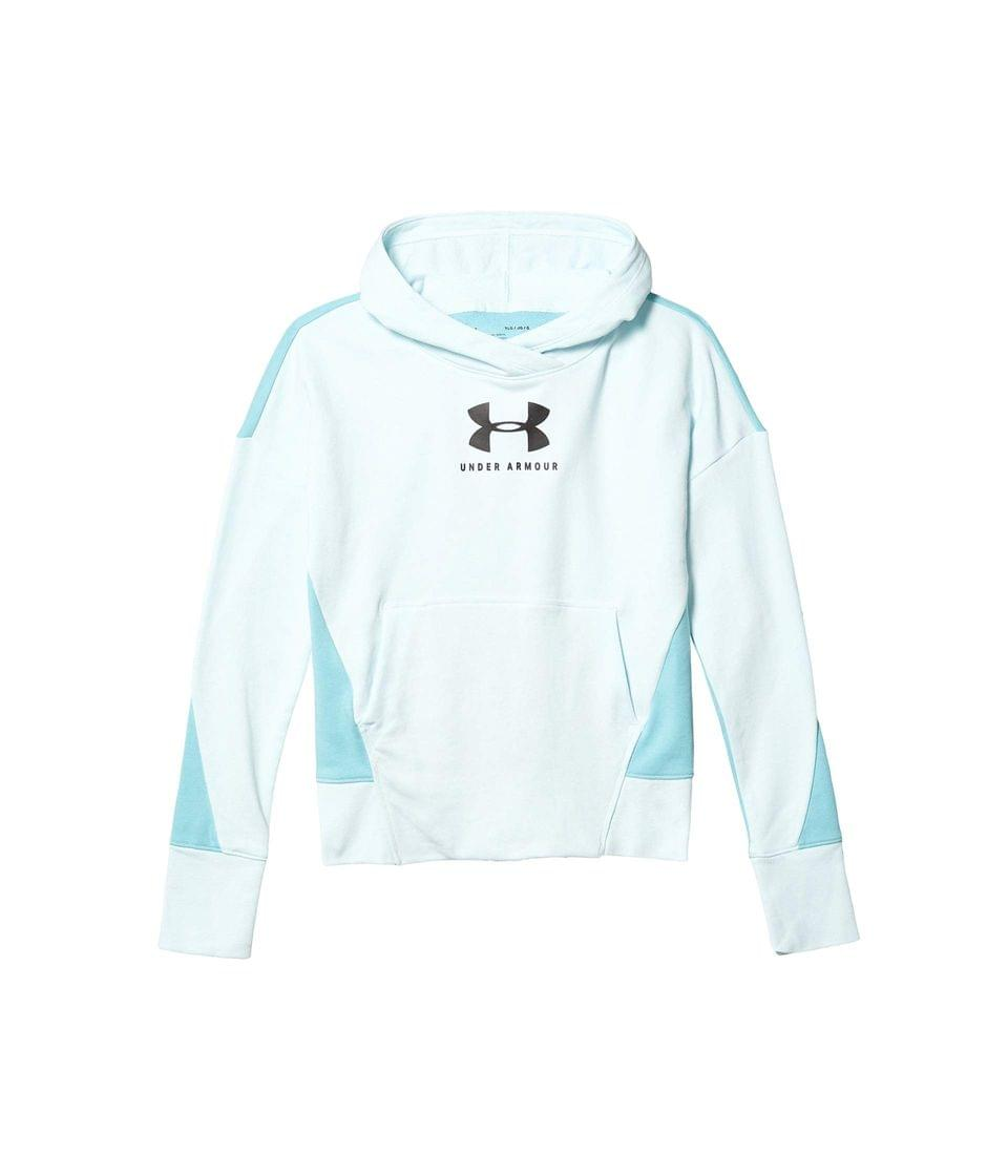 Girl's Rival Terry Hoodie (Big Kids). By Under Armour Kids. 45.00. Style Rift Blue/Black.