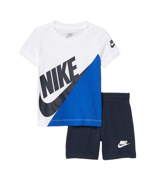 KIDSS Color-Block Short Sleeve T-Shirt & Shorts Two-Piece Set (Toddler). By Nike Kids. 38.00. Style Midnight Navy.
