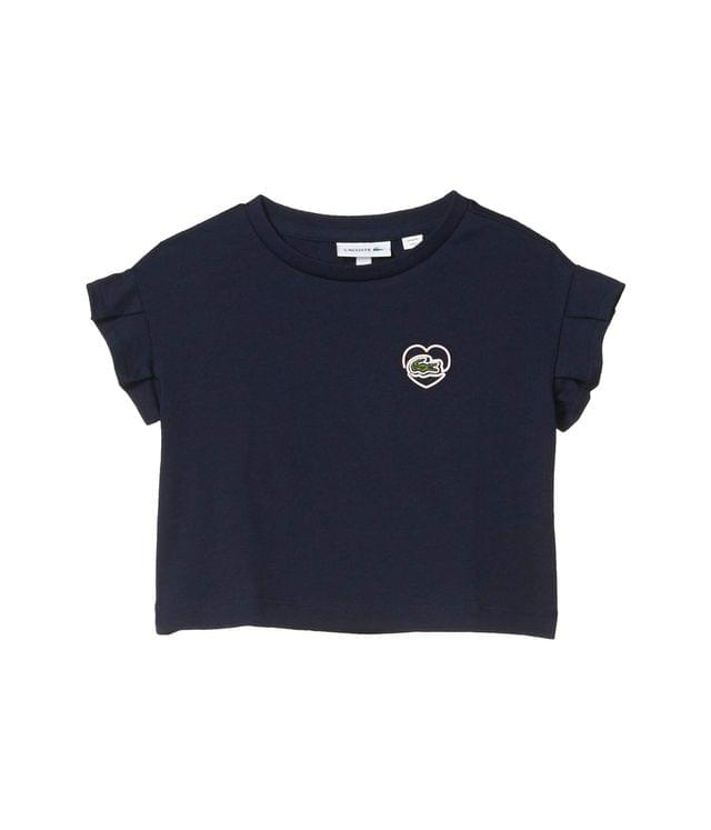 KIDS Badge Heart Tee Shirt (Toddler/Little Kids/Big Kids). By Lacoste Kids. 45.00. Style Navy Blue.
