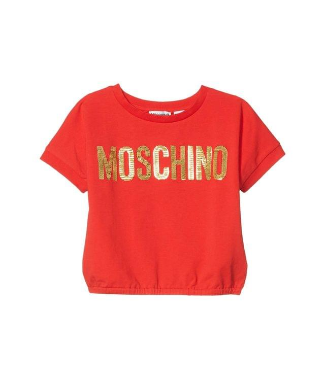 Girl's Same Pailettes Embroidery T-Shirt (Little Kids/Big Kids). By Moschino Kids. 114.40. Style Red.
