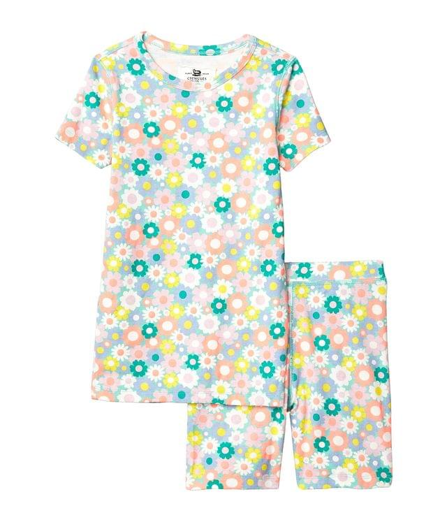 KIDSS Short Sleeve Floral Sleep Set (Toddler/Little Kids/Big Kids). By crewcuts by J.Crew. 45.00. Style Aqua Multi.