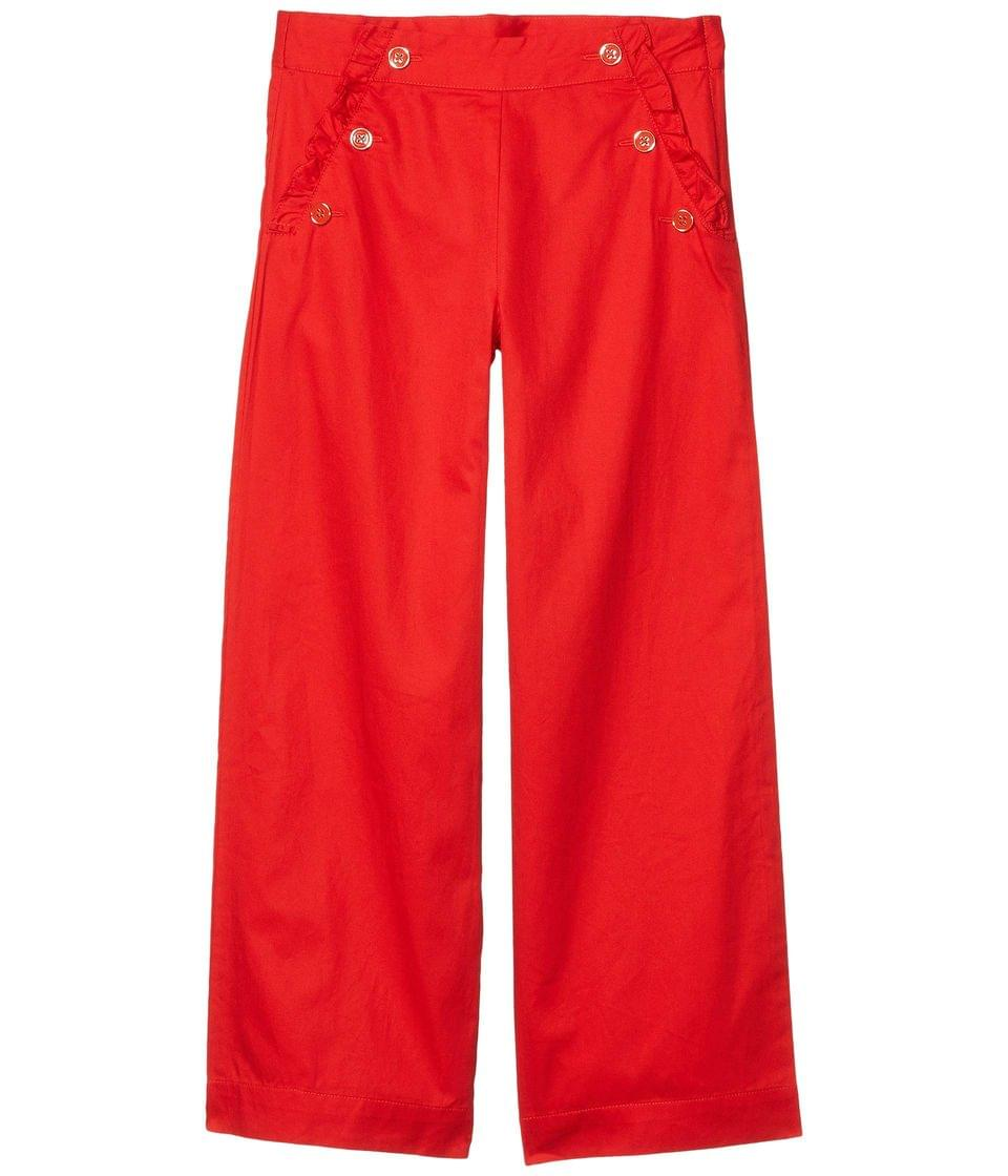 Girl's Twill Wide Leg Pants (Toddler/Little Kids/Big Kids). By Janie and Jack. 44.00. Style Red.