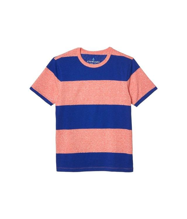 KIDS Short Sleeve Thick Stripe Abbott Tee (Toddler/Little Kids/Big Kids). By crewcuts by J.Crew. 26.50. Style Red/Blue.