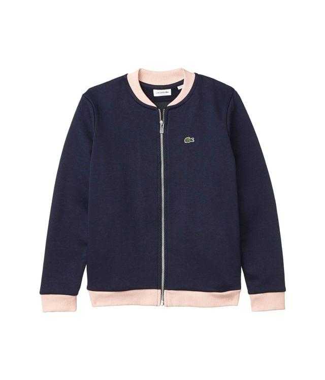 KIDS Oversize Croc and Heart Full-Zip Bomber Jacket (Toddler/Little Kids/Big Kids). By Lacoste Kids. 98.00. Style Navy Blue/Lychee/Corrida.