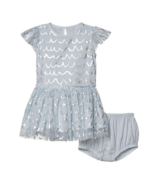 KIDS Short Sleeve Tulle Dress with Shell Foil Early (Infant). By Stella McCartney Kids. 99.00. Style Blue.